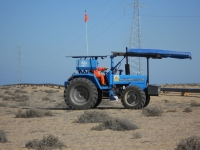Tractor con ruedas